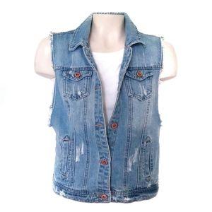 Highway Jeans Trucker Jacket Denim Vest